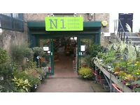 Part-time gardener / horticulturist needed for busy garden centre in North London
