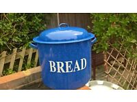 Metal dipped ceramic Bread Bin