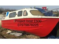 Cheap project Boat 20 foot no Engine