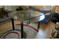 Glass Dining Table Seats up to 6 - Extendable Sides - Designer Glass Torino Extends