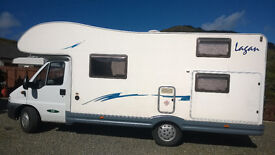 McLouis Lagan 420 7 Berth Motorhome with 7 Factory fitted seat Belts. First reg Jan 2005
