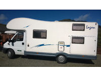 McLouis Lagan 420, 7 Berth Motorhome Camper with 7 Factory fitted seat Belts. First reg 14 Dec 2004