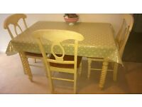 Shabby chic /country style table+4chairs