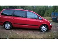 "SEAT ALHAMBRA'' 7 SEATER'' MOT TILL JULY 2019''6 SPEED GEARBOX"" DRIVES GRAET''TOW BAR''"