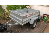 ERKA CAR TRAILER - Galvanised Tipping trailer