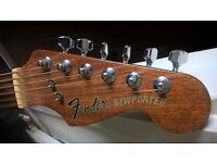 1980s fender newporter acoustic guitar.