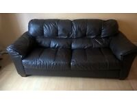 Brown leather 3 seater,from smoke and pet free home, Buyer to collect by tomorrow