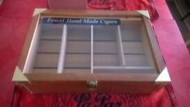 SHOP DISPLAY CIGAR HUMIDOR.....& A COUNTER CIGAR DISPLAY CABINET..NEVER USED..NEW...