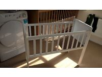 Mothercare hardly used crib and matteress