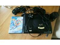 Sega megadrive 16 bit with two controllers and leads one game spares or repair