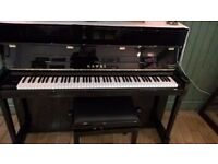 KAWAI K200 piano & stool - as new condition