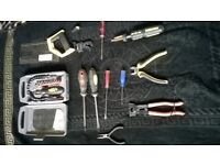 12 x Qty Various Tool inc Box Kit 12 Total Clear out with Flexidrive kit Saw-Screw driver Pliers