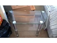 marble hearth & back plate fire & beech surround plus glass tv stand