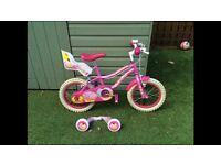 """Girls Silverfox 14"""" bike"""