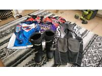 Enduro mx boots and clothing