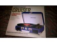 *BRAND NEW* Crosley Cruiser Briefcase Style Three Speed Portable Turntable Built-In Stereo Speakers