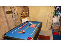 Second hand American style pool table