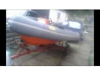 Avon 4m rib with 2013 Yamaha 4 stroke outboard
