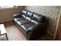 Italian Leather 3 seater settee