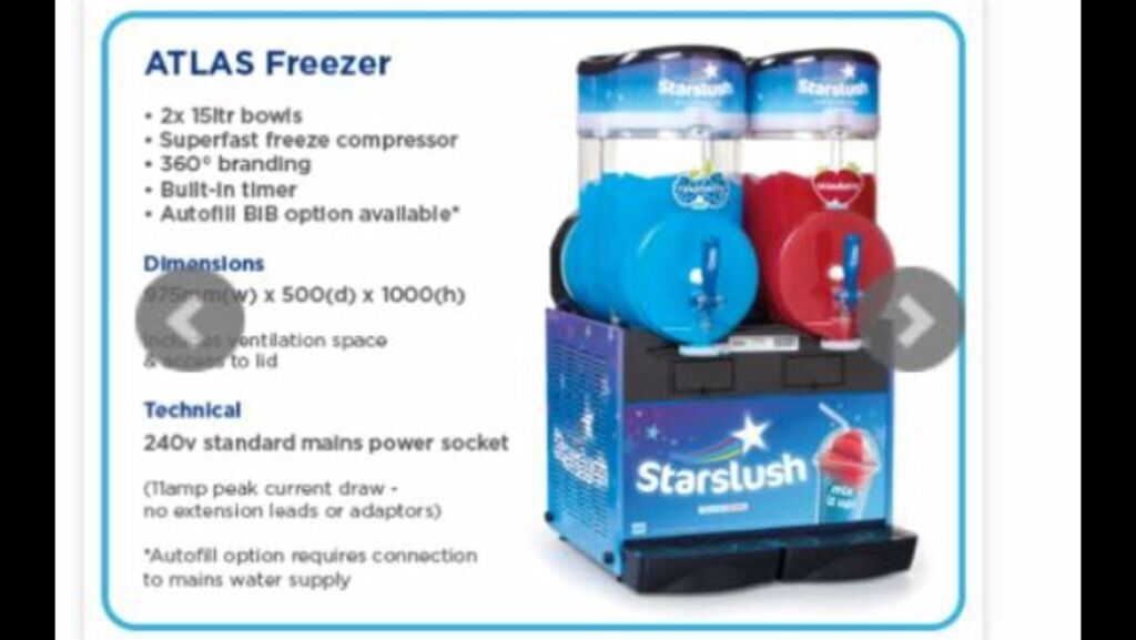 Slush Puppy Machine Commercialin Sittingbourne, KentGumtree - Twin Starslush Slush Puppy Machine Large unit, this machine gets cold but does not freeze at the moment. No engineer has looked at the machine so this could be an easy fix. This machine would cost around £4000 new I will take offers