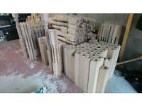 Brand new Oak Newel Posts, spindles and banisters. Liquidation sale.