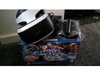 PlayStation 4 vr headset boxed & complete with 12 games & ps4 vr move (pre-owned & used)