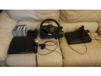 Playstation Ps3 with logitech driving force gt