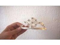 silver diamante princess tiara fancy dress / halloween
