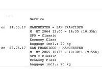 Return Thomas Cook flights to San Francisco may 17