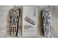 1 New SKY HD Remote Hand Controller and 1 Used - Personal Collection Only