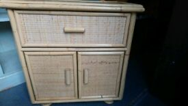 Wicker storage cabinet sturdy and in very good condition can deliver or collection