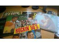 Old Time Rock & Roll LPs collectable at £5 each, many more than pictured