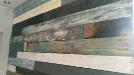 Reclaimed pallet wood wall kits. Reduced this weekend only