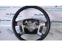 FORD GALAXY MK3 S-MAX MONDEO 2007-2010 STEERING WHEEL WITH CRUISE CONTROL HG08