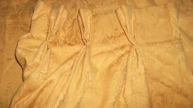 four pairs of curtains for sale (two Yellow/gold and two red/ Burgundy)
