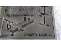 Phil Tyne's Total Trainer Flex Gym with Pilates attachments. Comes with all attachments