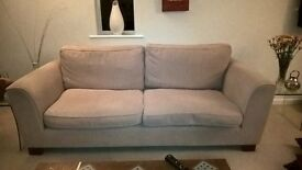 4 seater sofa from M AND S beige,chenille, good condition, washable