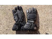 Warm motorcycle leather gloves size XXL bufallo
