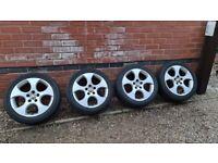 "Genuine Volkswagen Monza 17"" Alloy Wheels 5x112 VW Golf GTI 1K0601025BB"