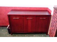 Solid Mahogany storage unit very good condition