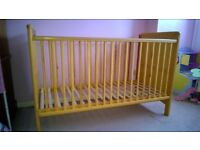 Pine cot bed with adjustable height