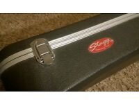 ABS acoustic guitar hard case by Stagg - fibreglass and aluminium frame, Corby, Northamptonshire
