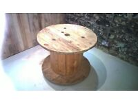 Wooden Cable Drum, sanded and cleaned, ready to use