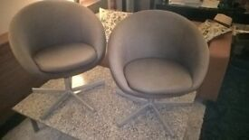 2 FREE SWIVEL CHAIRS in fawn fabric. URGENT! MUST GO SOON!