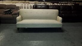 Ex-display Howard natural fabric sprung back 3 seater grand sofa