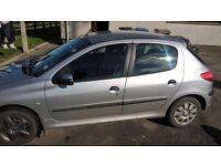 Peugeot 206 Car, Silver, 2001, MOT until end of October 2016 £295 OVNO