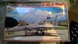 revell f-15 model and airfix harrier jet model 25 pound for both