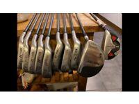 Old set of golf clubs- carbon fibre shafts