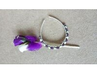 Flower girl headband and wand