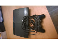 ps3 super slim 12gb fully working with dualshock 3 controller